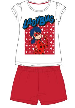 Pijama, maneca scurta, Ladybug, rosie