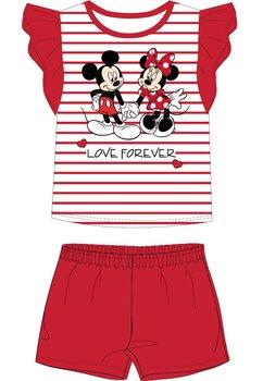 Pijama, maneca scurta, Love forever, rosie