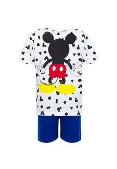 Pijama, maneca scurta, Mickey, alb cu albastru