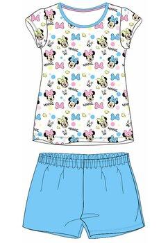 Pijama maneca scurta, multi Minnie, albastra