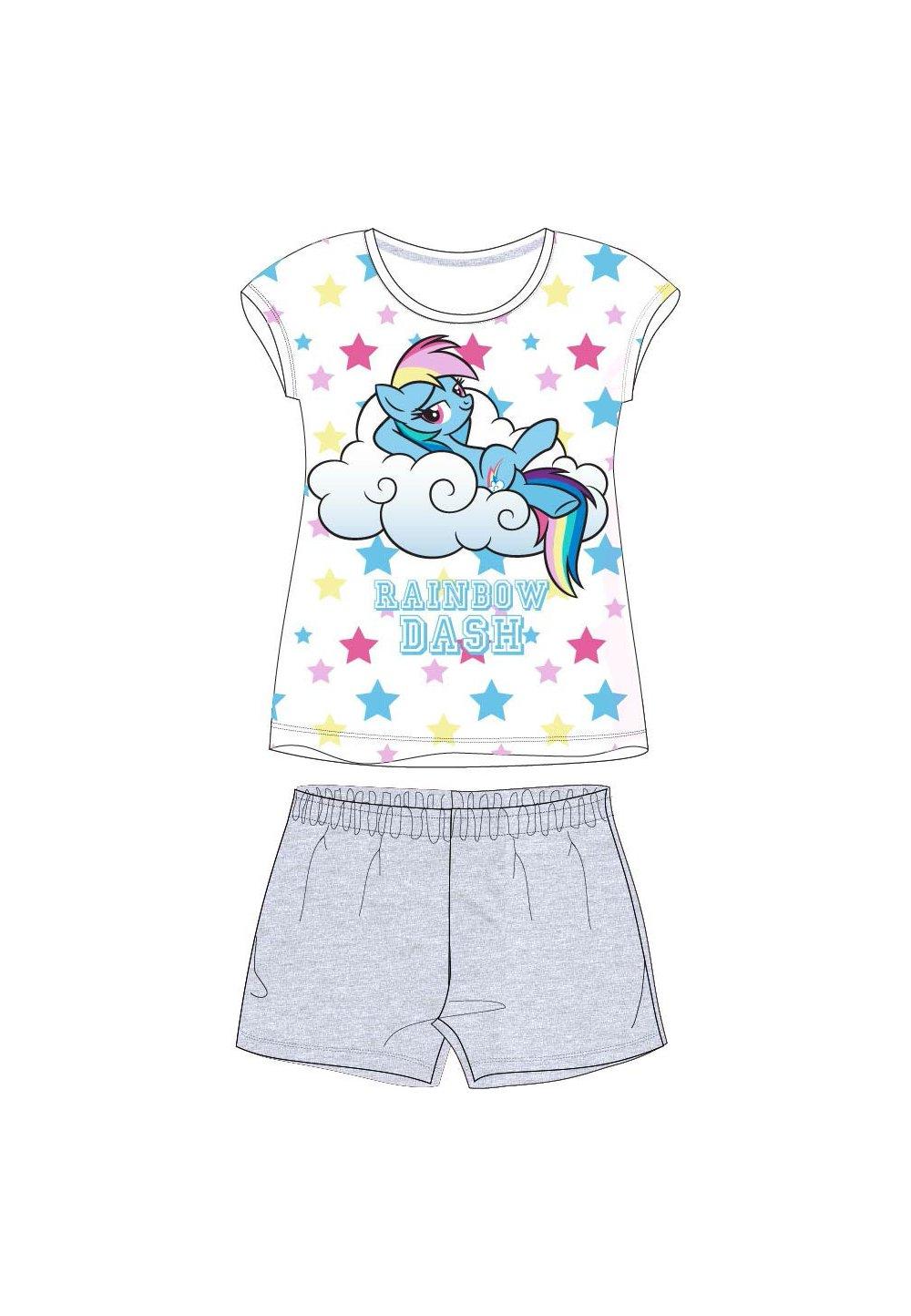 Pijama, maneca scurta, Rainbow dash, gri imagine