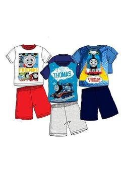 Pijama, maneca scurta, Thomas, albastru cu bluemarin
