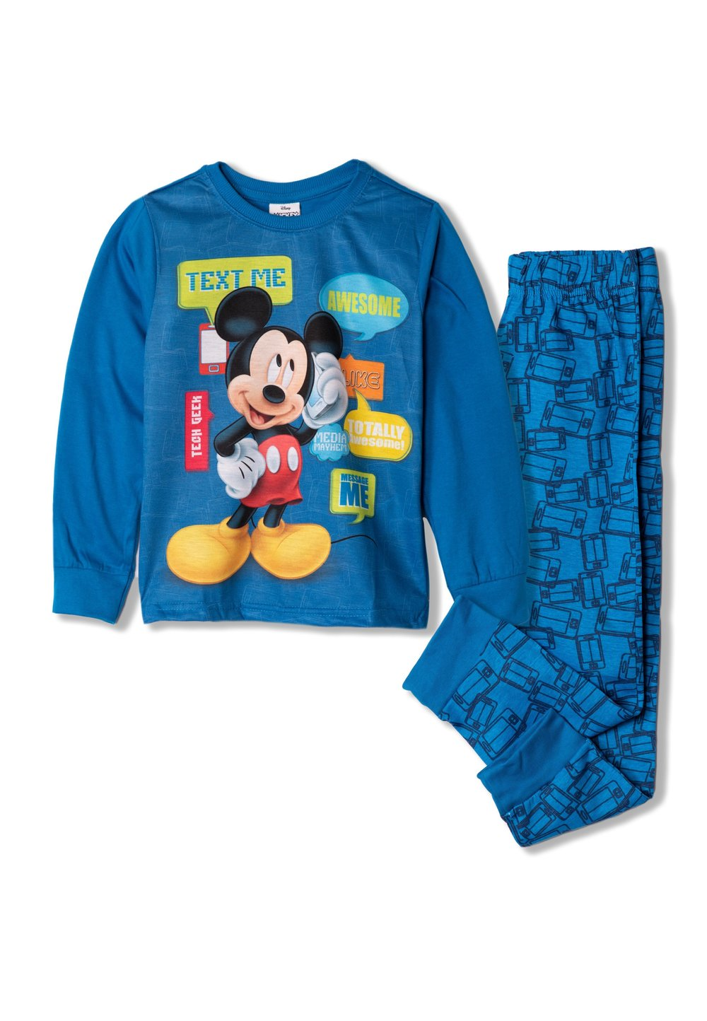 Pijama, Mickey text me, albastra