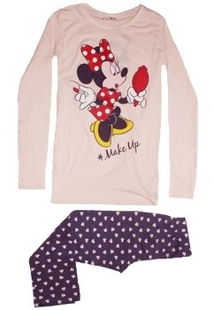 Pijama roz deschis, pantalon 3/4, Minnie Mouse