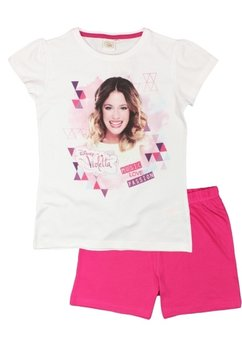 Pijama scurta Violetta, roz