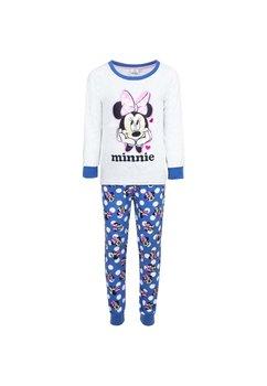 Pijama velur gri, Minnie cu fundita roz