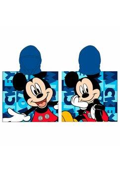 Poncho, Mickey Mouse, albastru, 55x110cm