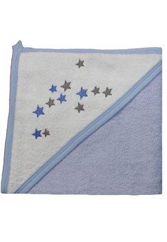 Prosop bumbac, albastru cu stelute, 80x100cm