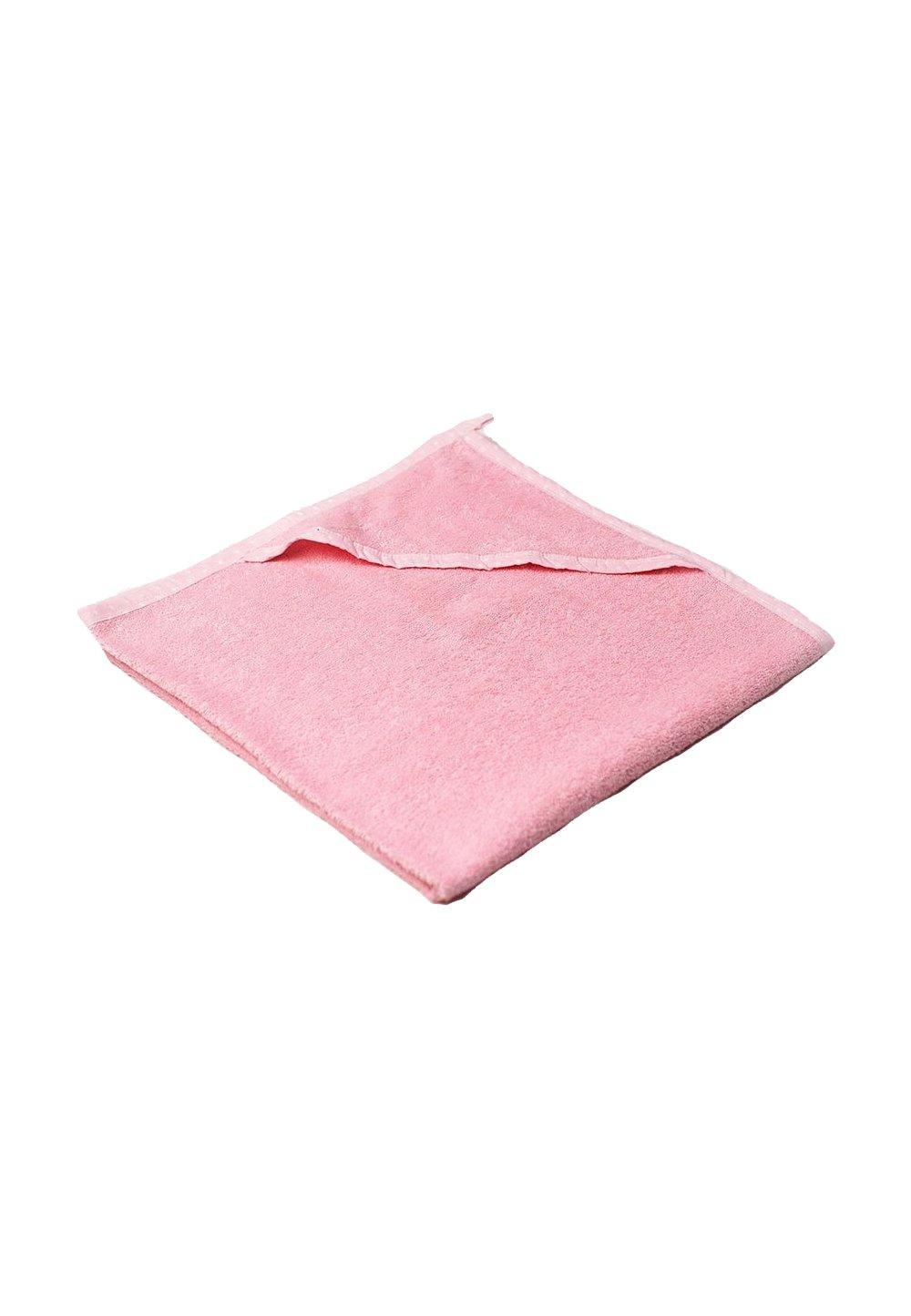 Prosop baie cu gluga, bumbac,roz, 80x100cm imagine