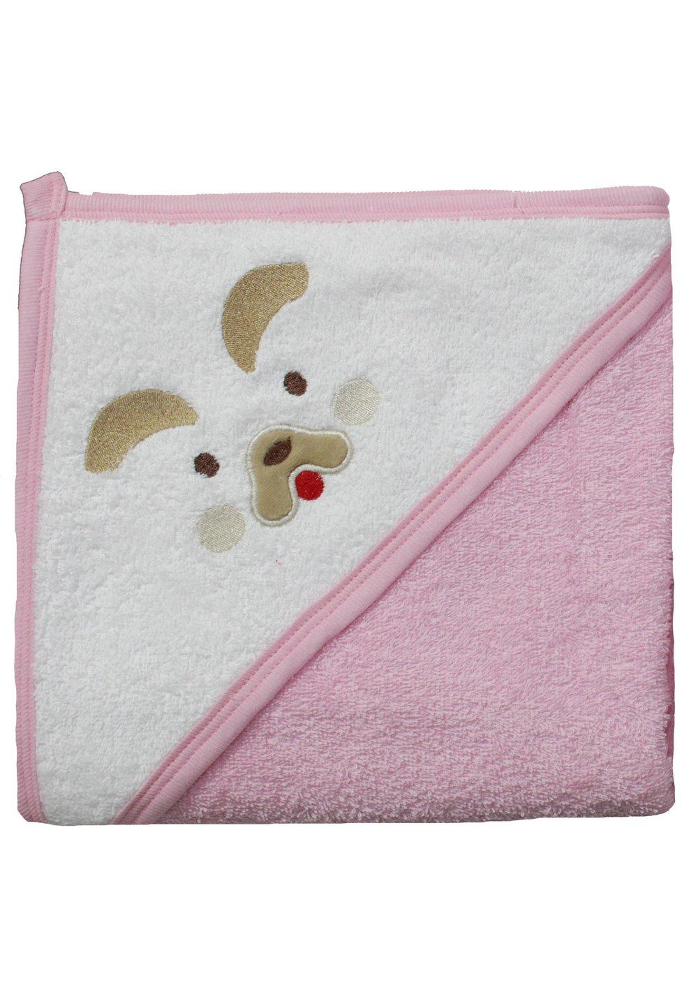 Prosop bumbac, roz, catelus, 80x100cm imagine