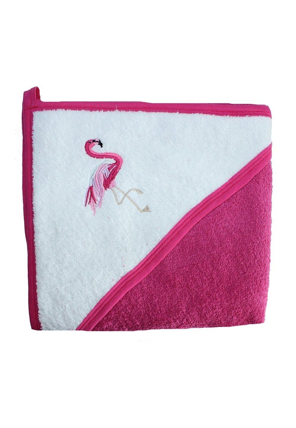 Prosop bumbac, roz inchis, flamingo, 80 x 100 cm imagine