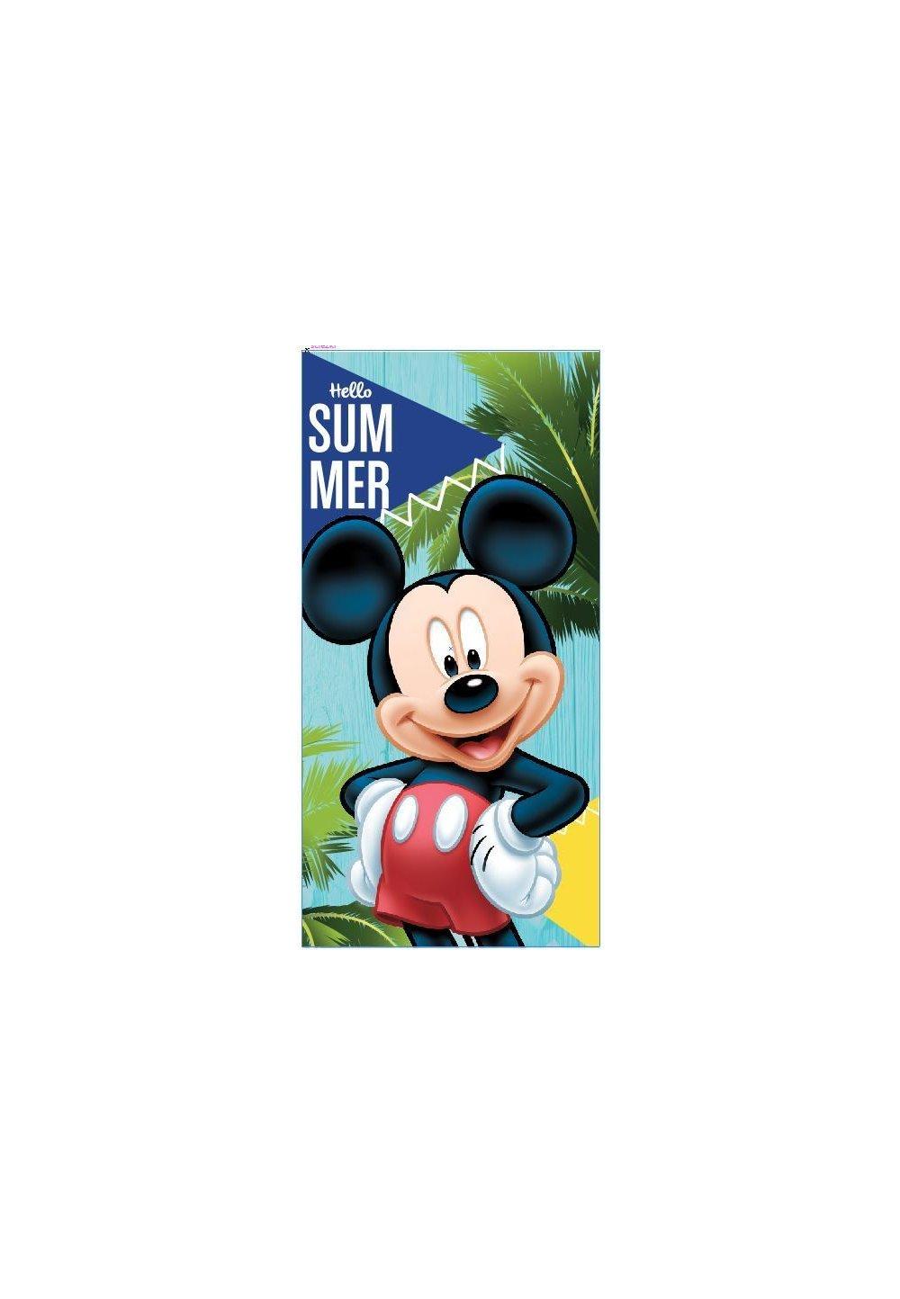 Prosop de plaja, Mickey, Hello summer, 70x140cm imagine