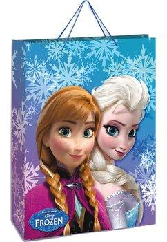 Punga cadou, mare, Anna si Elsa, cu fulgi de zapada