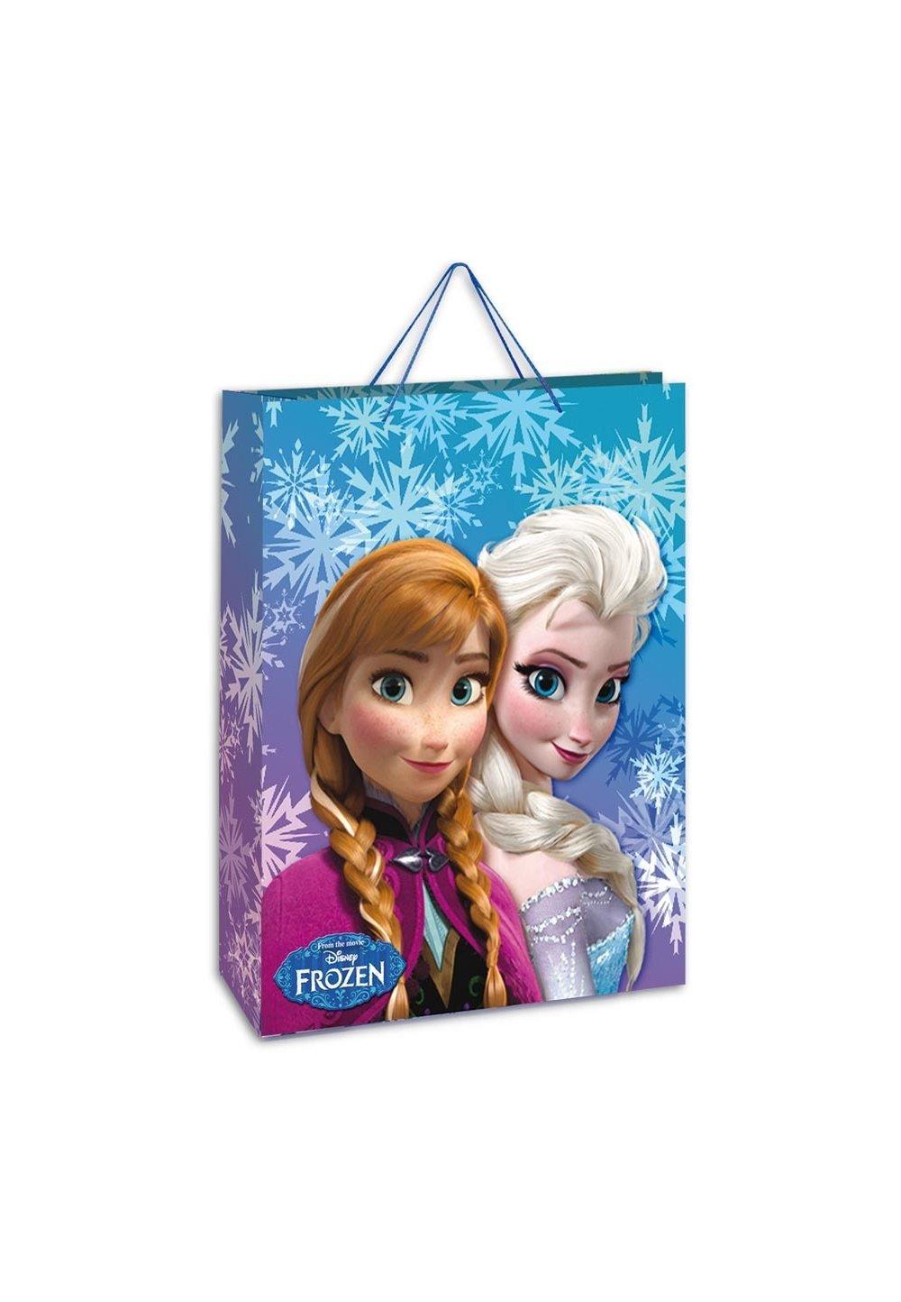 Punga cadou, mica, Anna si Elsa, cu fulgi de zapada imagine