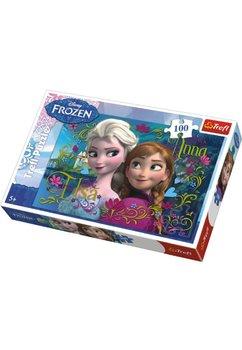 Puzzle Anna si Elsa, 100de piese