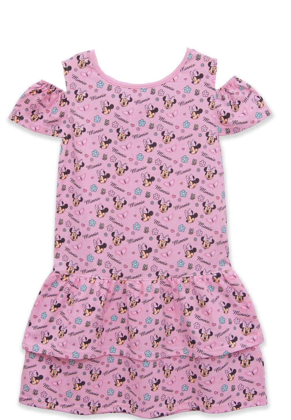 Rochie fetite, cu figurine Minnie Mouse, roz imagine