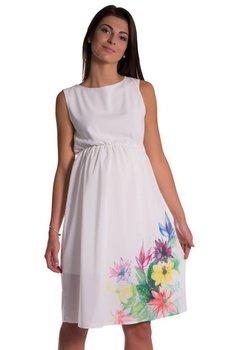 Rochie gravide, crem cu imprimeu floral
