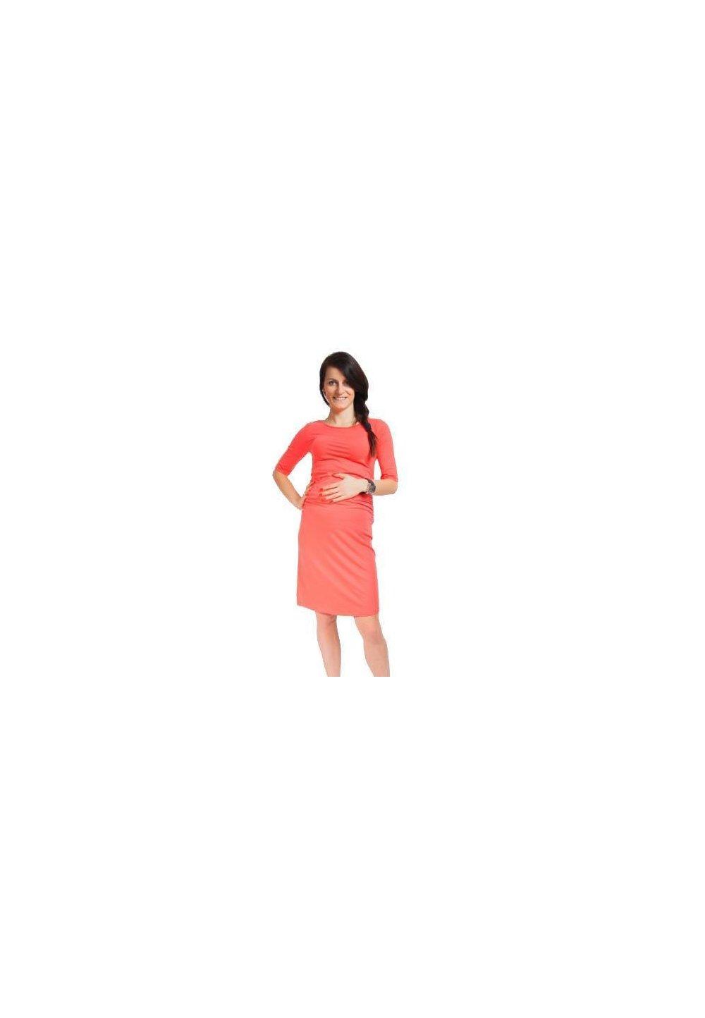 Rochie gravide, Lauren, coral imagine