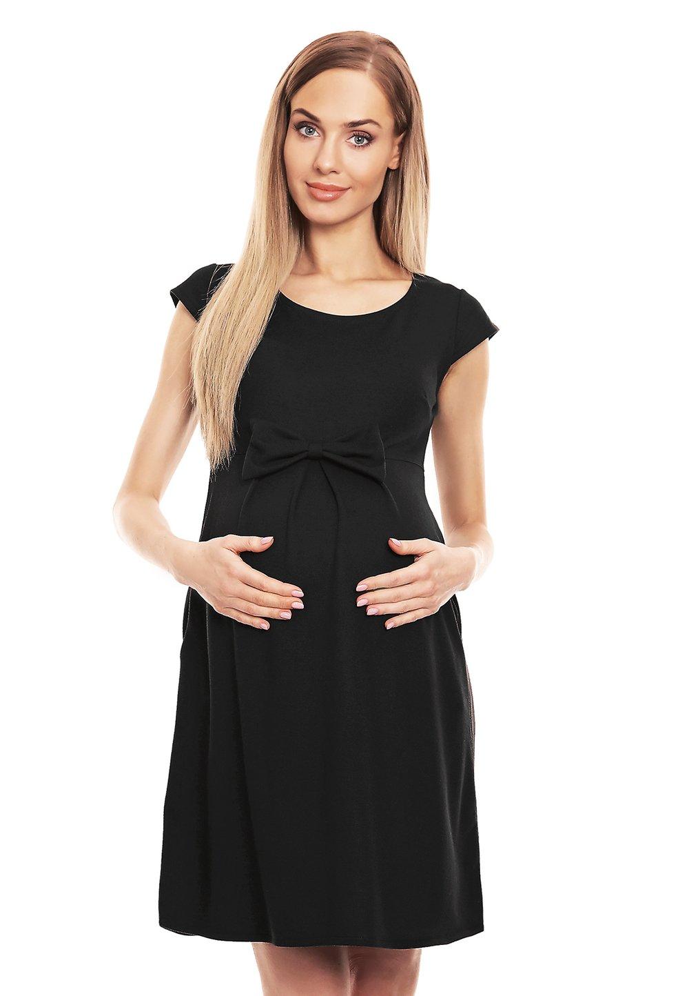 Rochie gravide, neagra cu fundita imagine