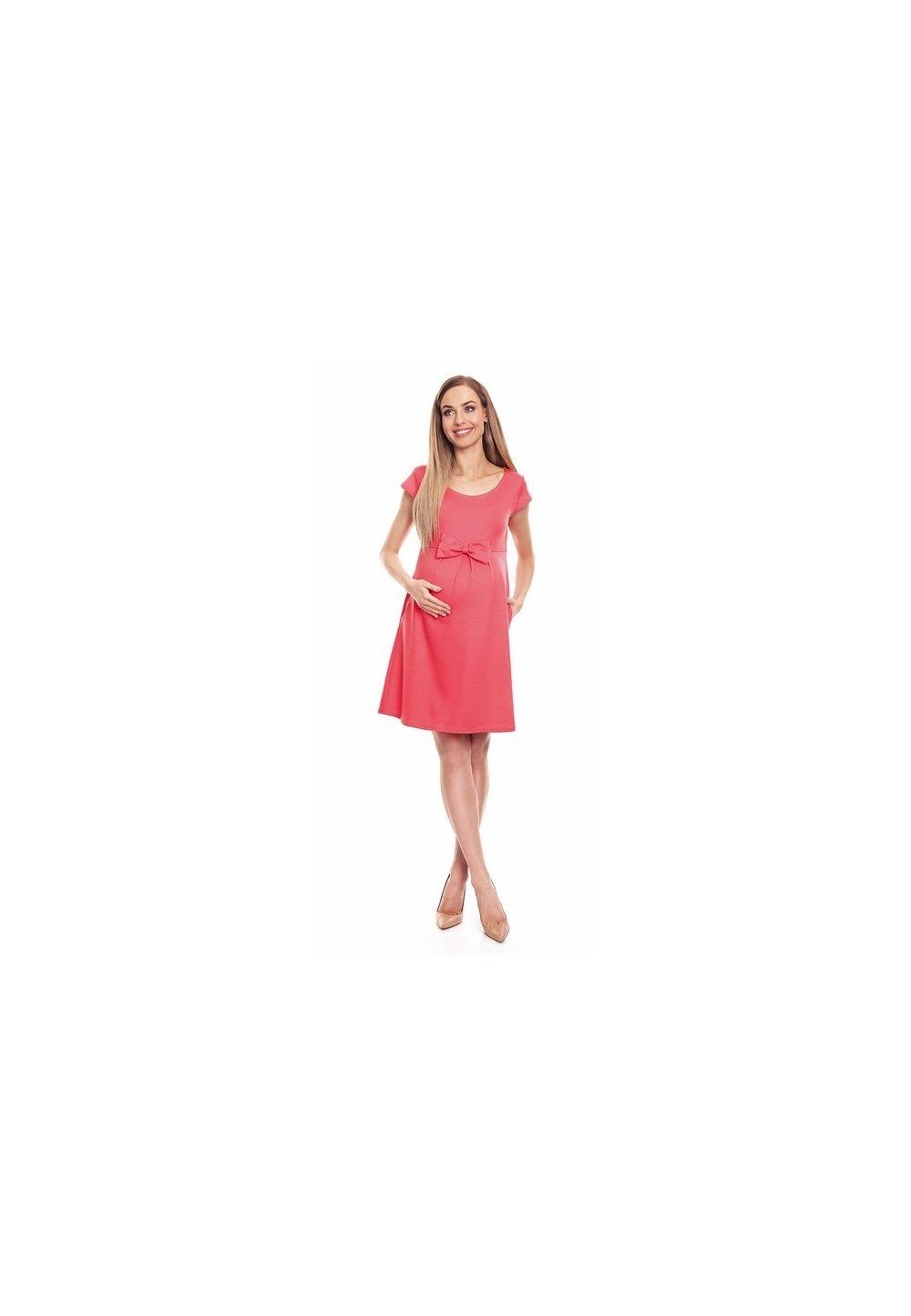 Rochie gravide, roz cu fundita imagine