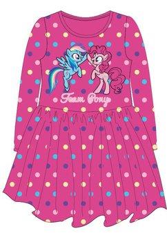 Rochie maneca lunga, Team Pony, roz cu buline