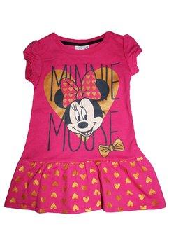 Rochie Minnie Mouse, roz cu inimioare