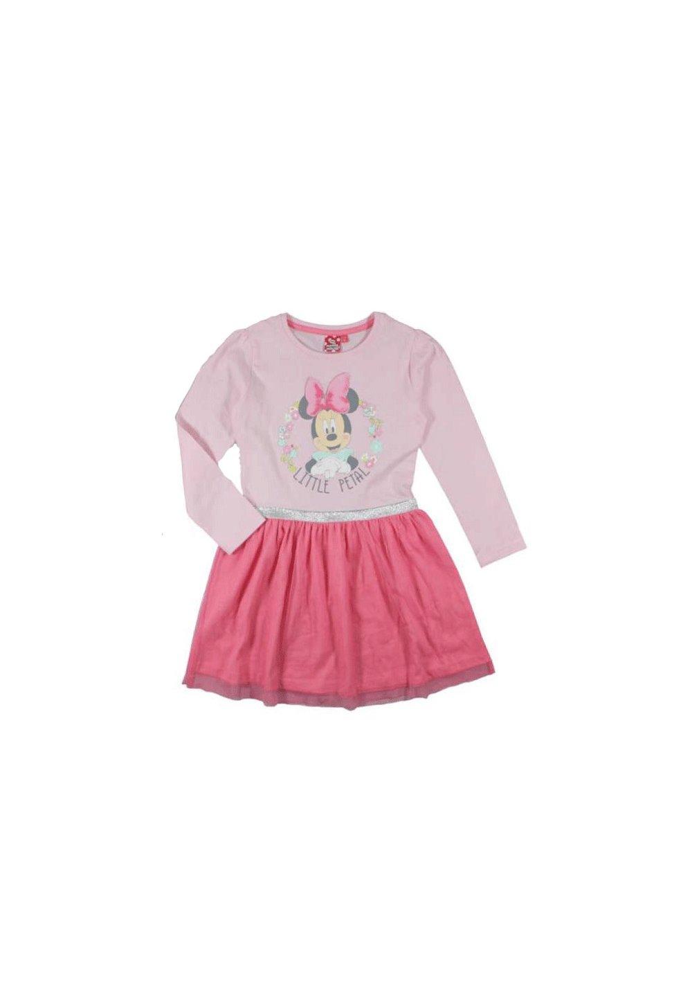 Rochie Minnie Mouse roz, maneca lunga imagine