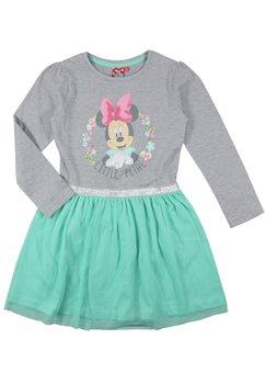 Rochie Minnie Mouse verde, maneca lunga