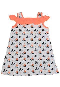 Rochie vara, Minnie Mouse, gri cu portocaliu
