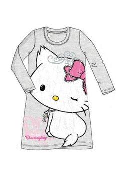 Tricou tip tunica, Charmmy kitty, gri