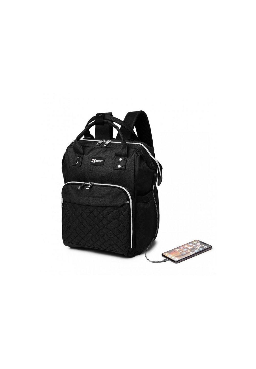 Rucsac pentru mamici, Work, cu mufa USB, negru imagine