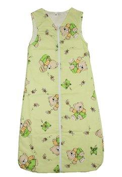 Sac de dormit vara ursulet cu albinute, verde