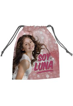 Saculet Soy Luna, roz cu stele, 27 x 22 cm