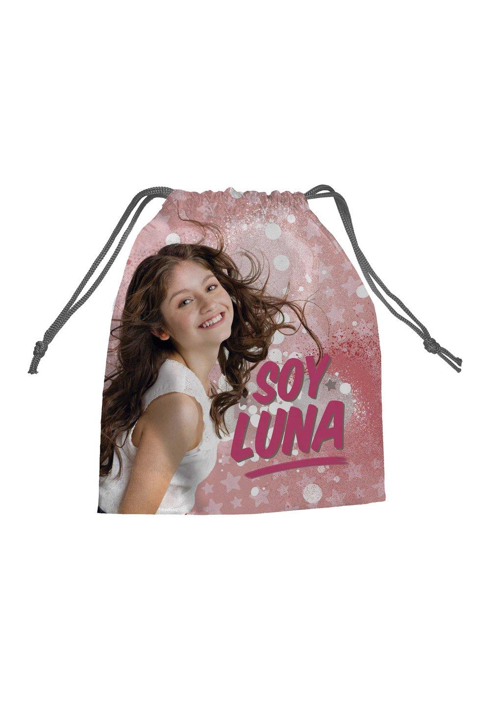 Saculet Soy Luna, roz cu stele, 27 x 22 cm imagine