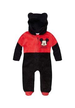 Salopeta bebe Mickey Mouse, flecee, neagra