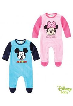 Salopeta bebe, Minnie Mouse, velur, roz