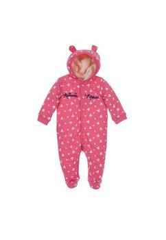 Salopeta cu gluga, Minnie Mouse, roz inchis