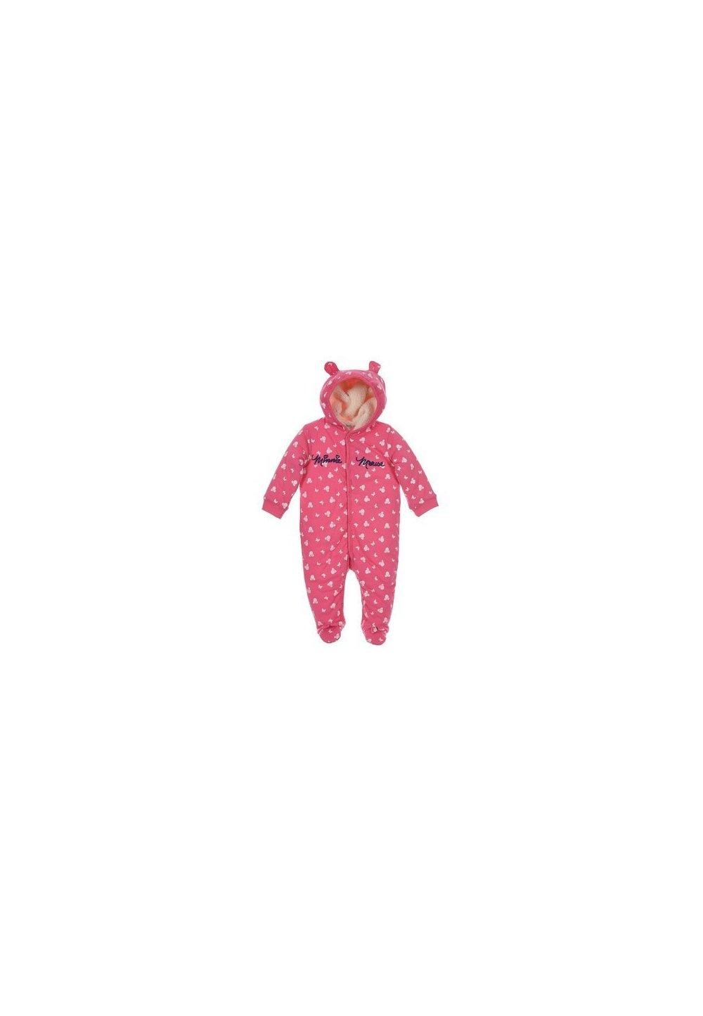 Salopeta cu gluga, Minnie Mouse, roz inchis imagine