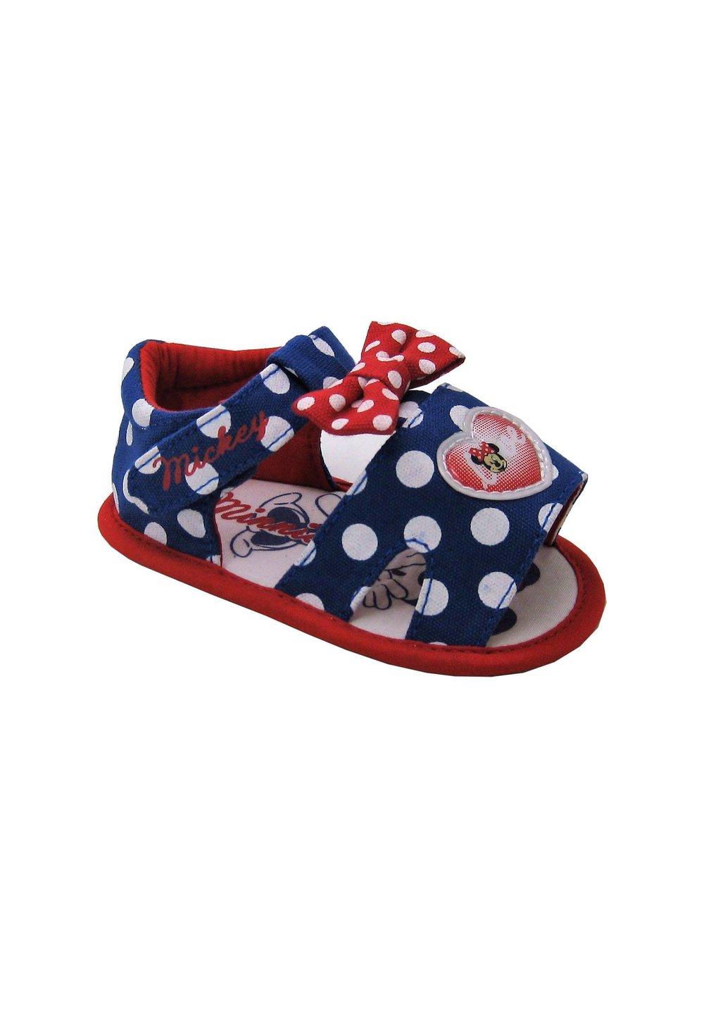 Sandale bebe, albastru cu buline, Minnie Mouse imagine