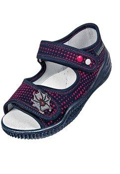 Sandale, bluemarin cu buline rosii, Spider