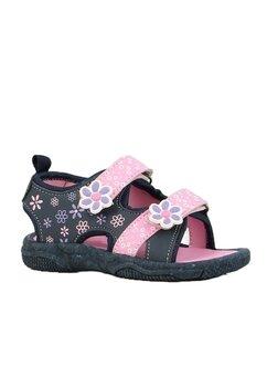 Sandale, bluemarin cu floricele roz
