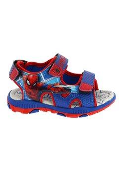Sandale cu scai, albastre, Spider Man