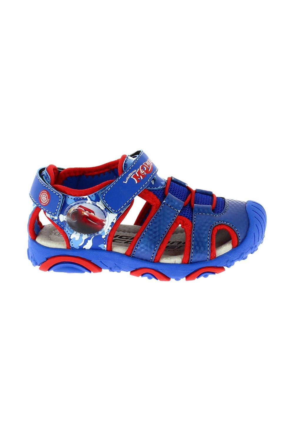 Sandale cu siret, albastru cu rosu, Cars imagine