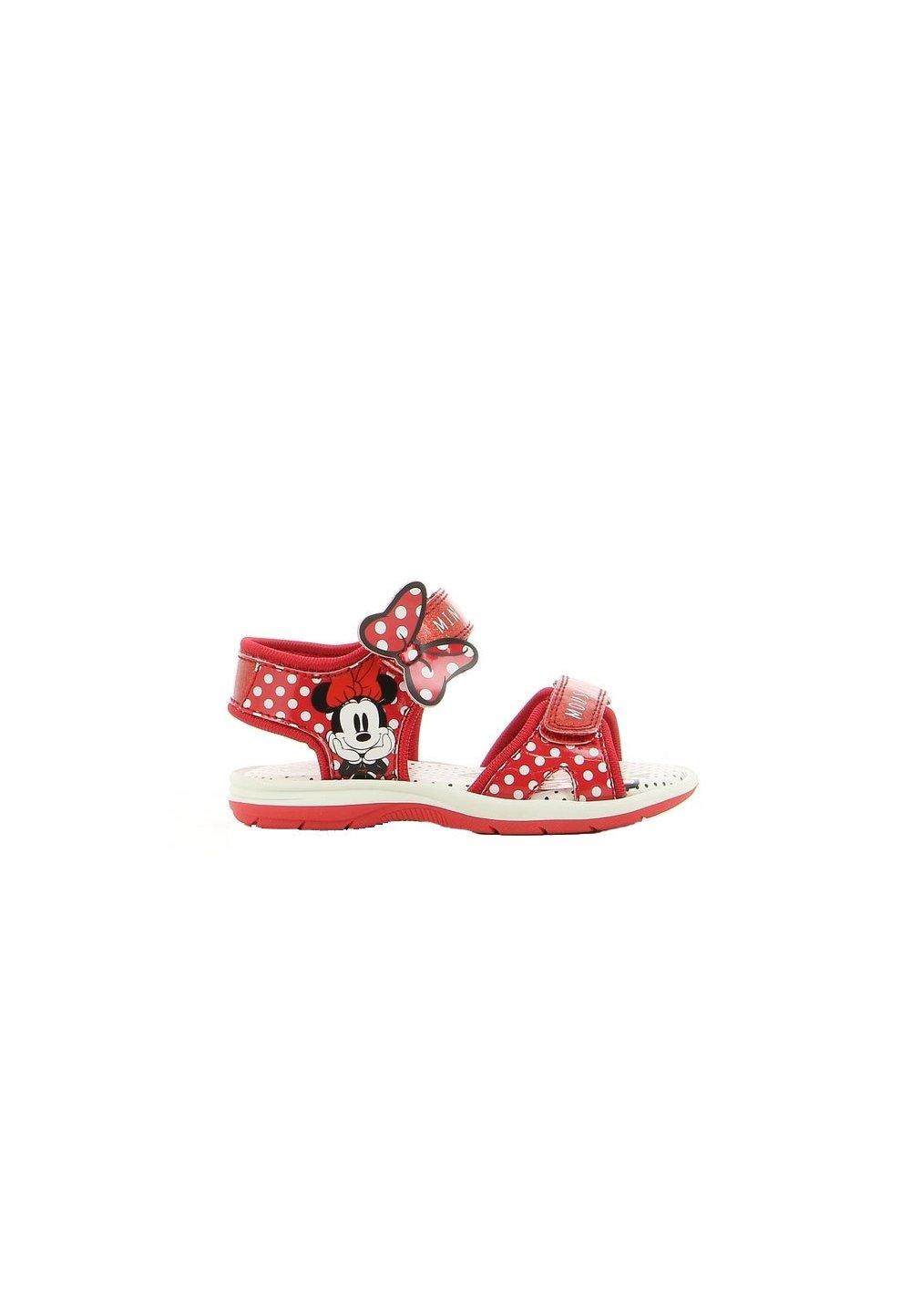 Sandale, Minnie Mouse, rosii cu buline albe imagine