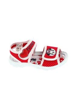 Sandale, rosii cu buline albe, Minnie Mouse