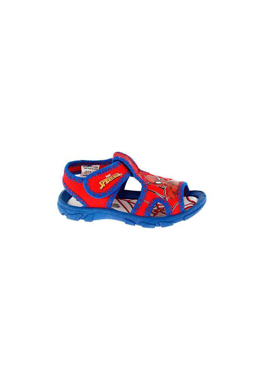 Sandale, rosu cu albastru, Spider-Man