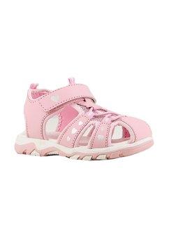 Sandale, roz cu inimioare argintii