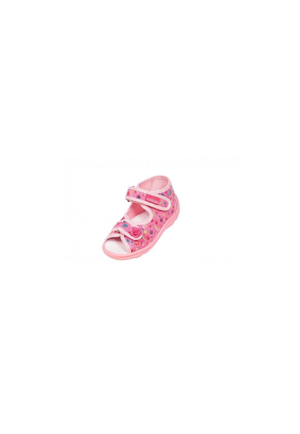Sandale, roz cu trandafiri, Karolina imagine