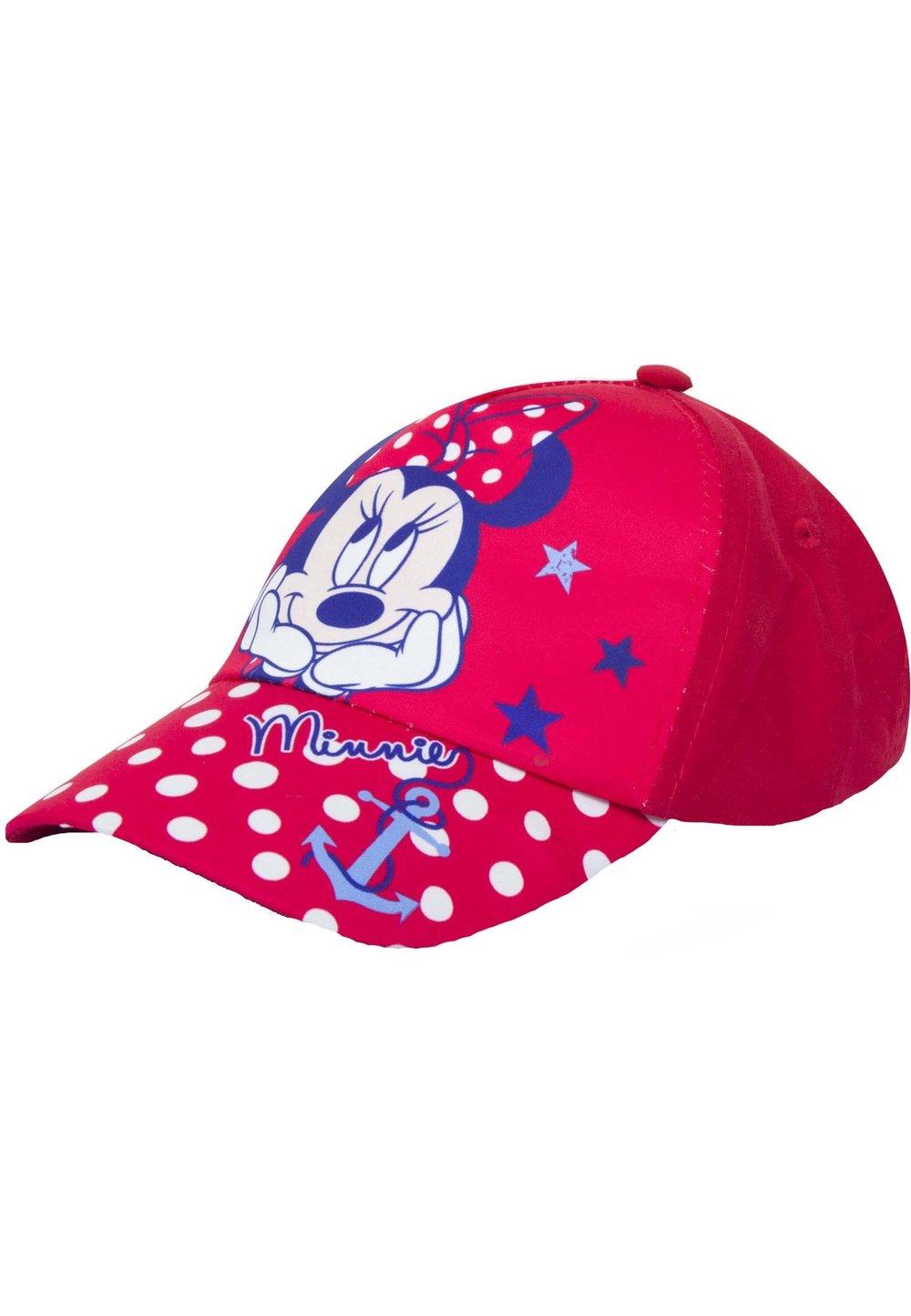Sapca rosie cu buline albe, Minnie Mouse imagine