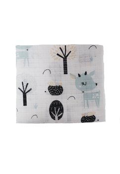 Scutec bumbac, Bambi, turcoaz, 80 x 70 cm
